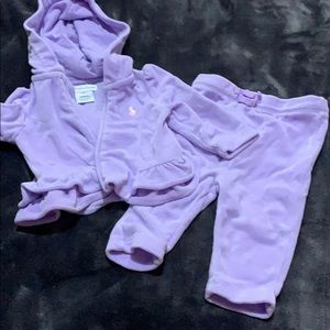 Ralph Lauren velour 2 piece 3m